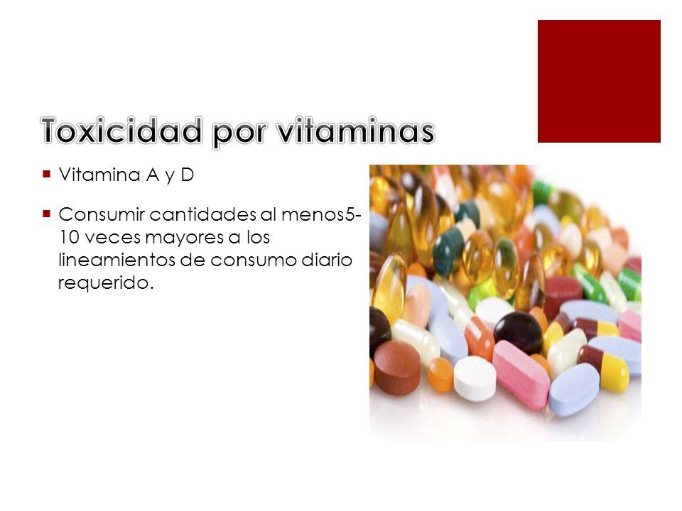 Vitamina A y D Consumir cantidades al menos5- 10 veces mayores a los lineamientos de consumo diario requerido.