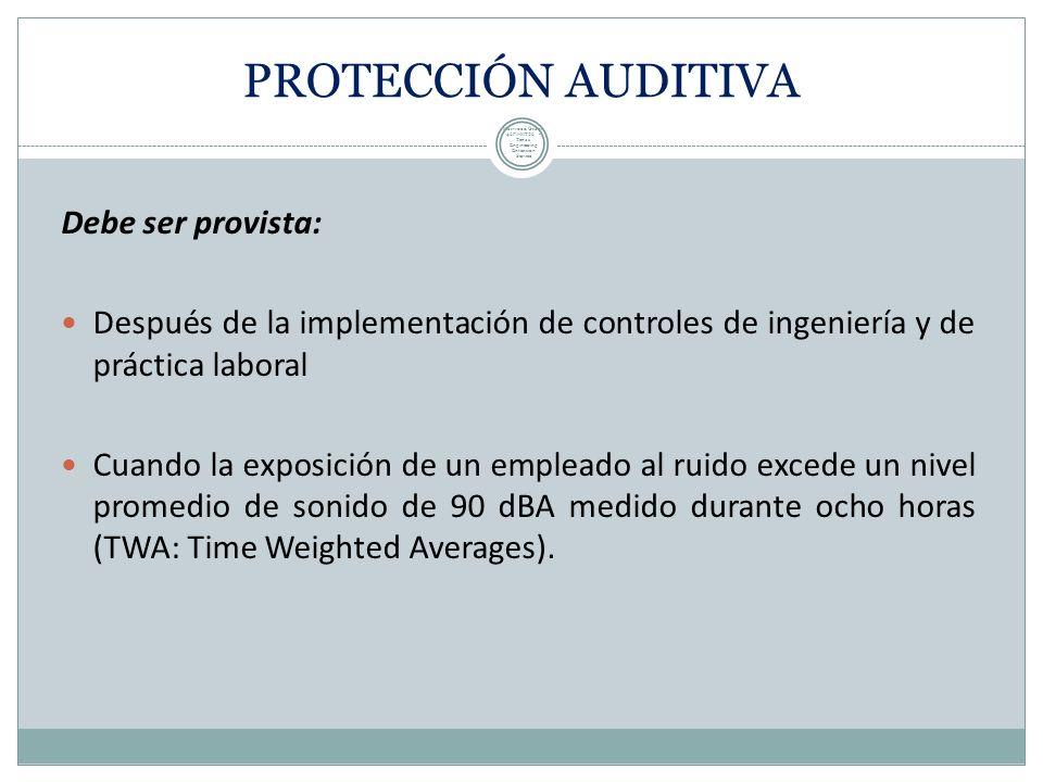 Si no es posible reducir el ruido o su duración, use dispositivos de protección auditiva. los dispositivos de protección auditiva deben estar bien aju