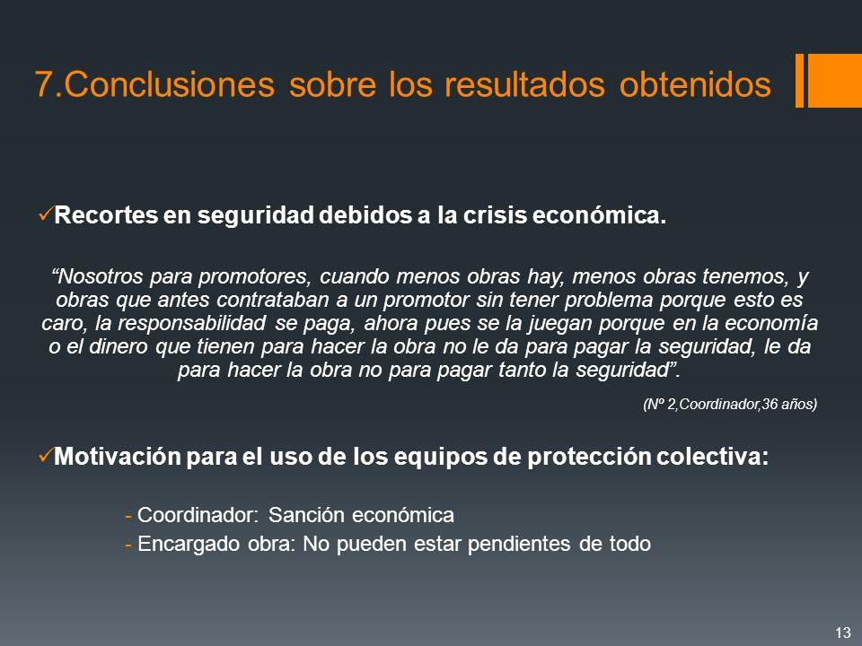 Recortes en seguridad debidos a la crisis económica. Nosotros para promotores, cuando menos obras hay, menos obras tenemos, y obras que antes contrata