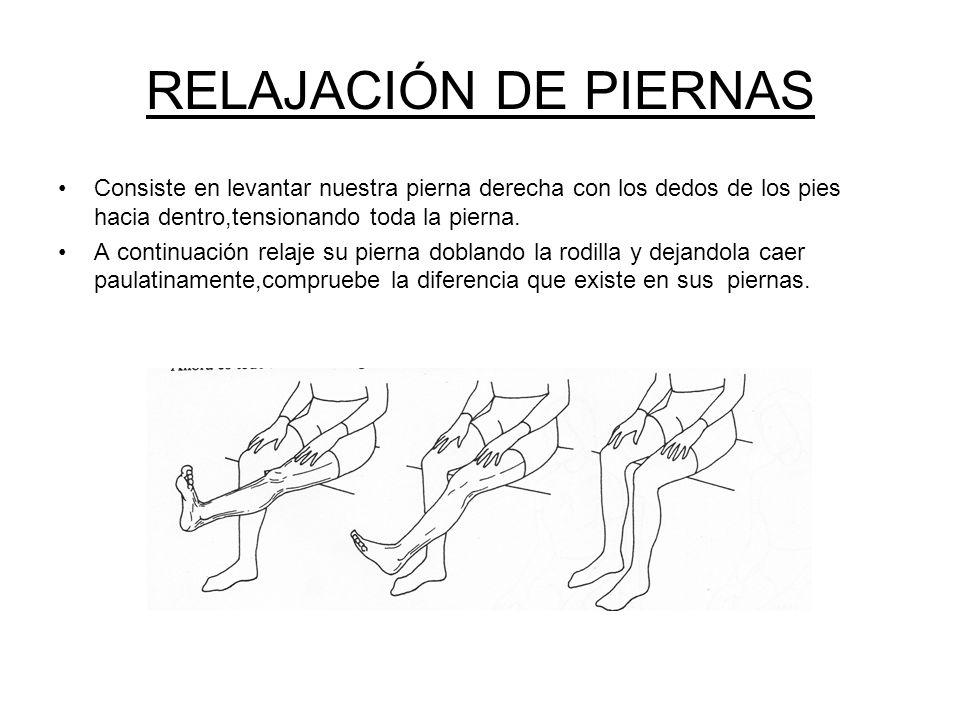 RELAJACIÓN DE BRAZOS Mantenga su brazo derecho recto,con el puño cerrado y tensándolo desde la mano hasta el hombro.Note donde tiene la tensión tocand