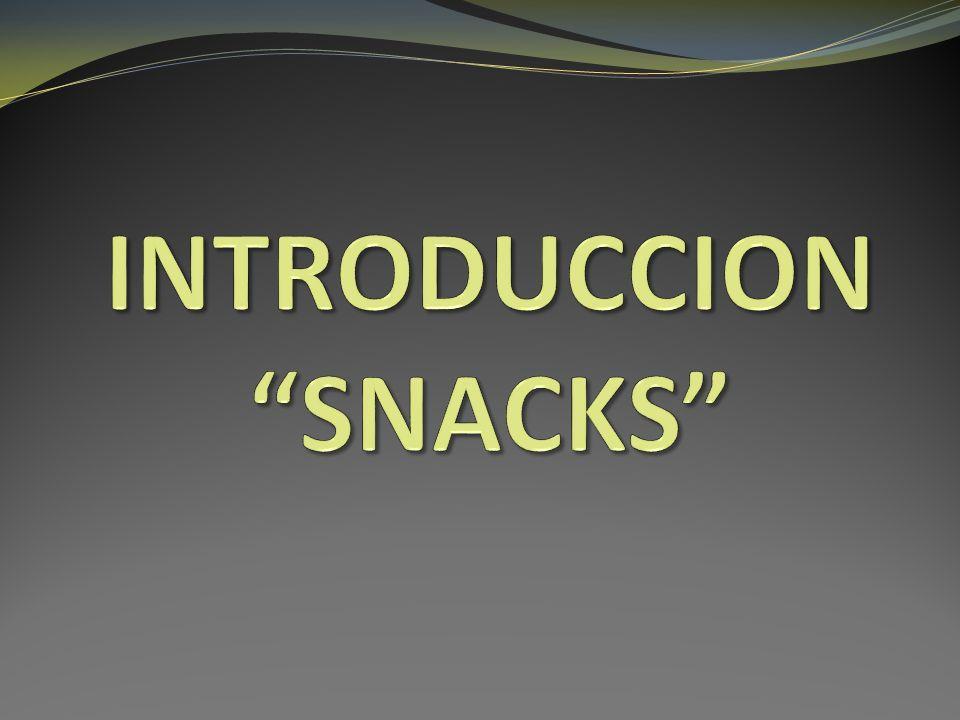SNACK Alimento no considerado como alimento principal.