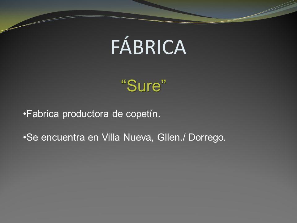 FÁBRICA Sure Fabrica productora de copetín. Se encuentra en Villa Nueva, Gllen./ Dorrego.