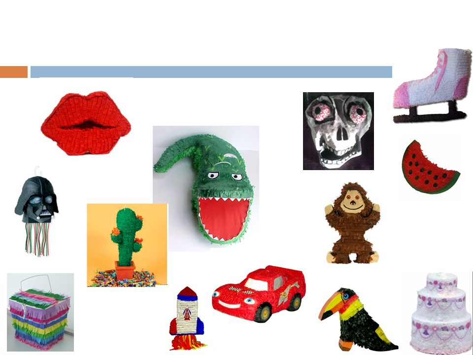 la piñata española es de… … China.Allí la piñata era una vaca con muchos colores.