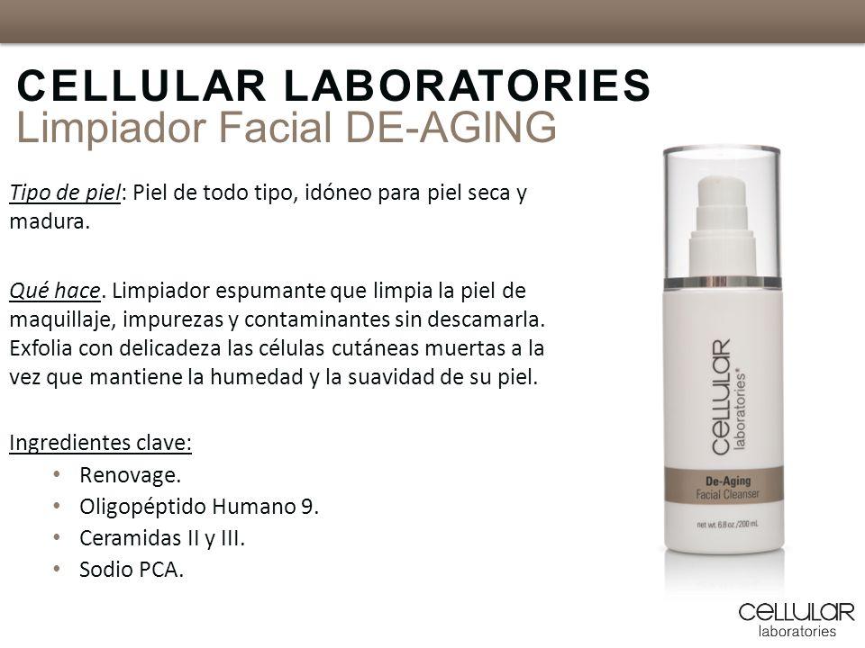Tipo de piel: Piel de todo tipo, idóneo para piel seca y madura. Qué hace. Limpiador espumante que limpia la piel de maquillaje, impurezas y contamina