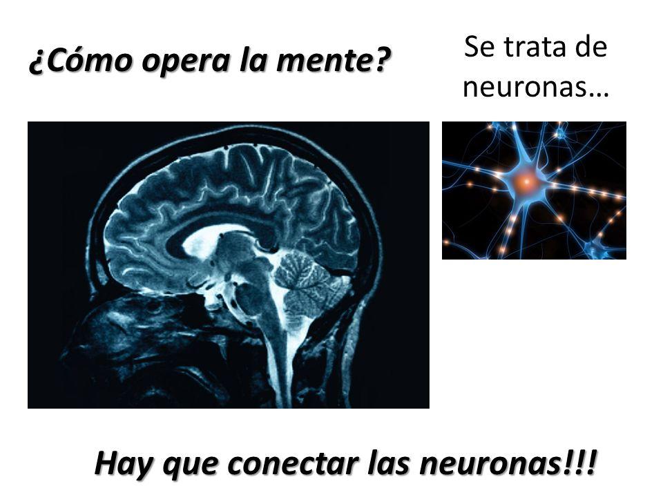 ¿Cómo opera la mente? Se trata de neuronas… Hay que conectar las neuronas!!!