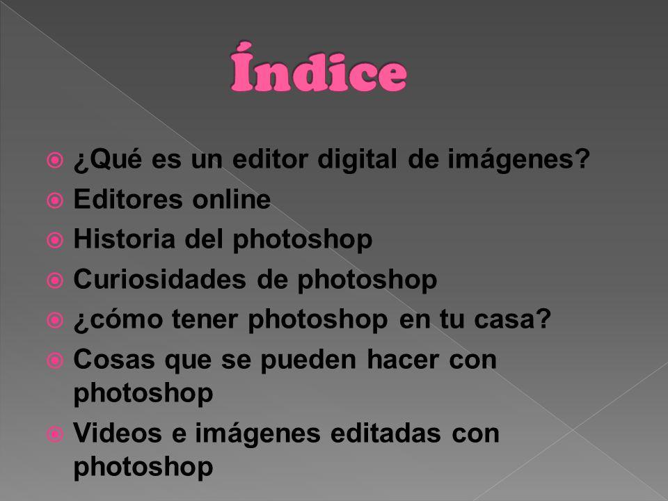 ¿Qué es un editor digital de imágenes.