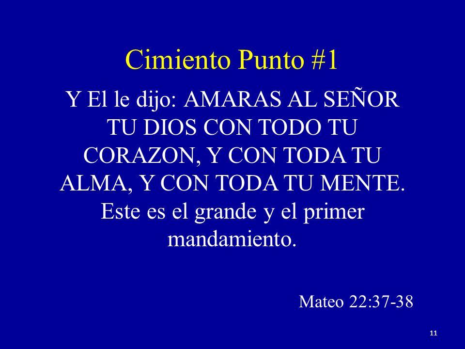 Y El le dijo: AMARAS AL SEÑOR TU DIOS CON TODO TU CORAZON, Y CON TODA TU ALMA, Y CON TODA TU MENTE. Este es el grande y el primer mandamiento. Mateo 2