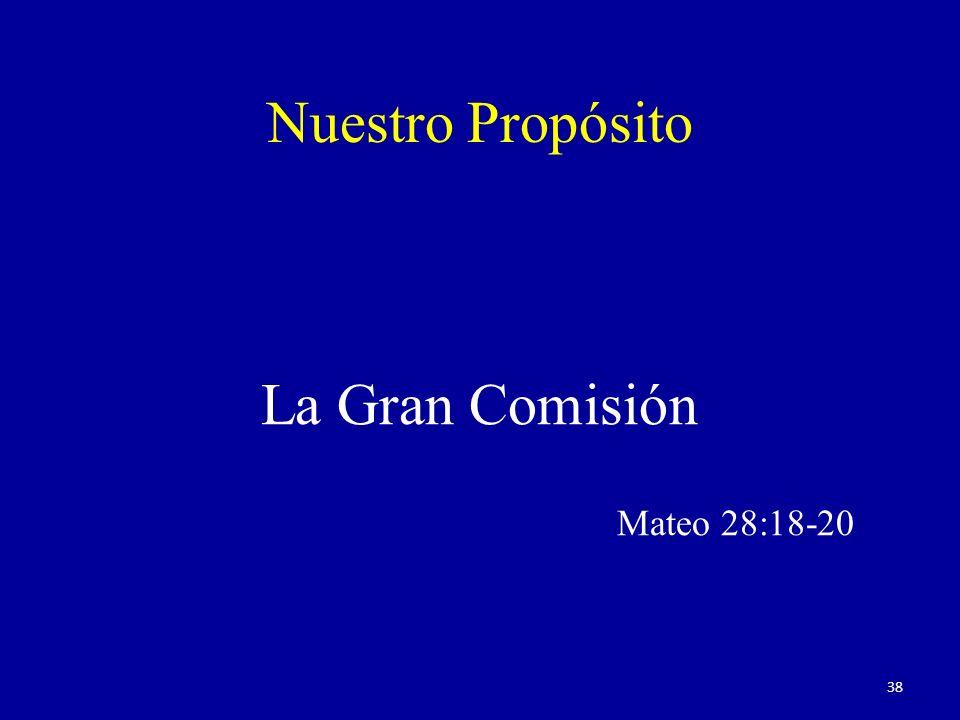 Nuestro Propósito La Gran Comisión Mateo 28:18-20 38
