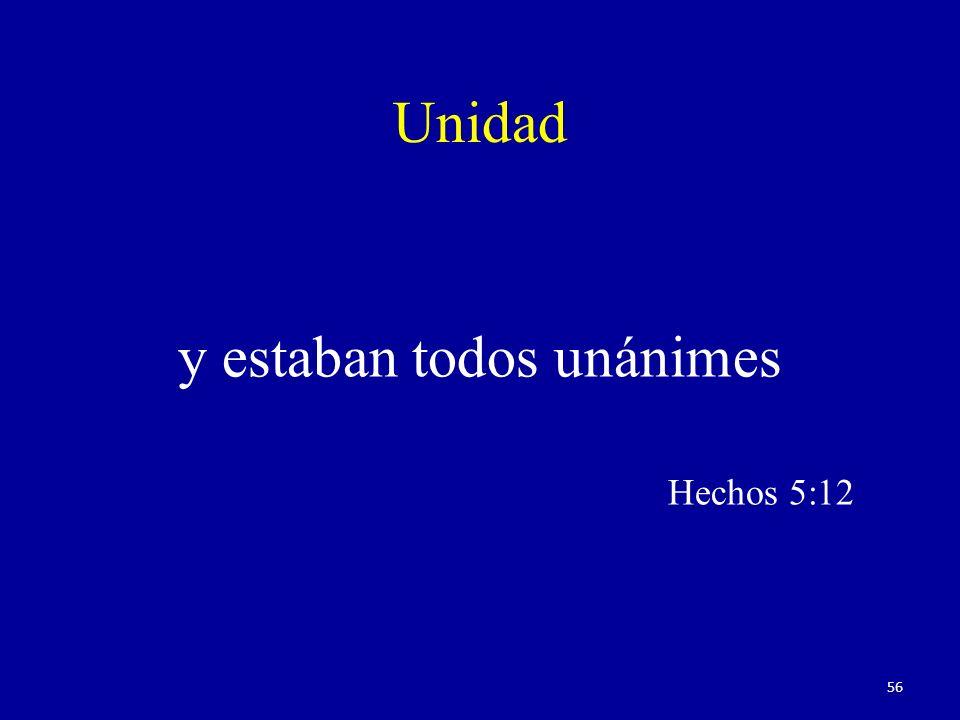Unidad y estaban todos unánimes Hechos 5:12 56