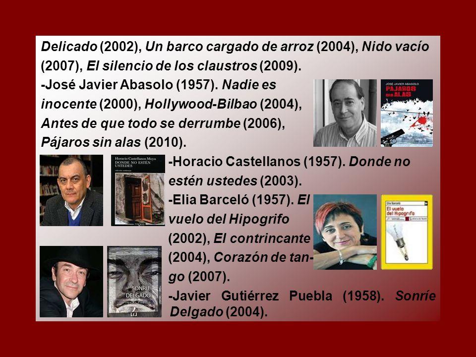 Delicado (2002), Un barco cargado de arroz (2004), Nido vacío (2007), El silencio de los claustros (2009).