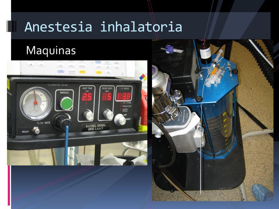 Maquinas Anestesia inhalatoria