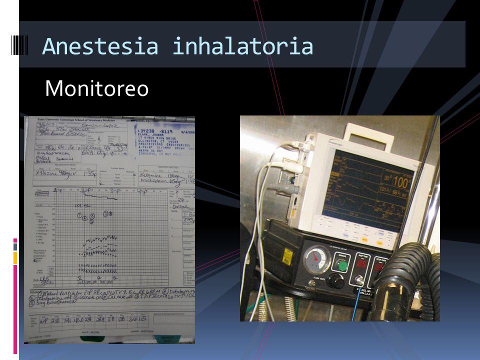 Monitoreo Anestesia inhalatoria