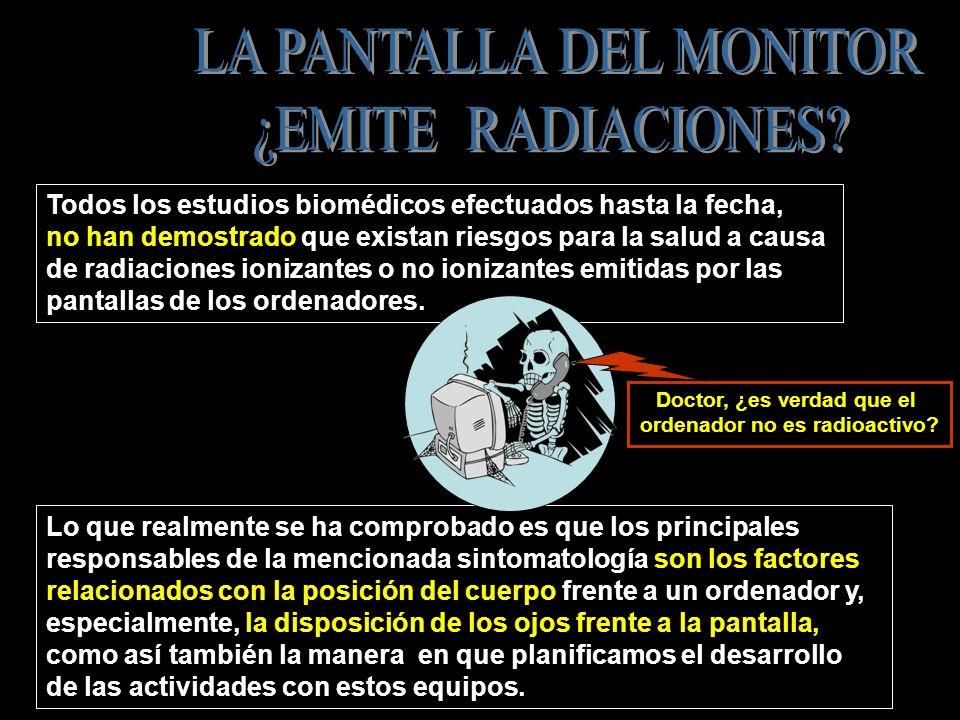 MONITOR UBICADO DEBAJO DE LA LÍNEA DEL HORIZONTE VISUAL LINEA ROJA DEL HORIZONTE VISUAL ALTURA DEL MONITOR