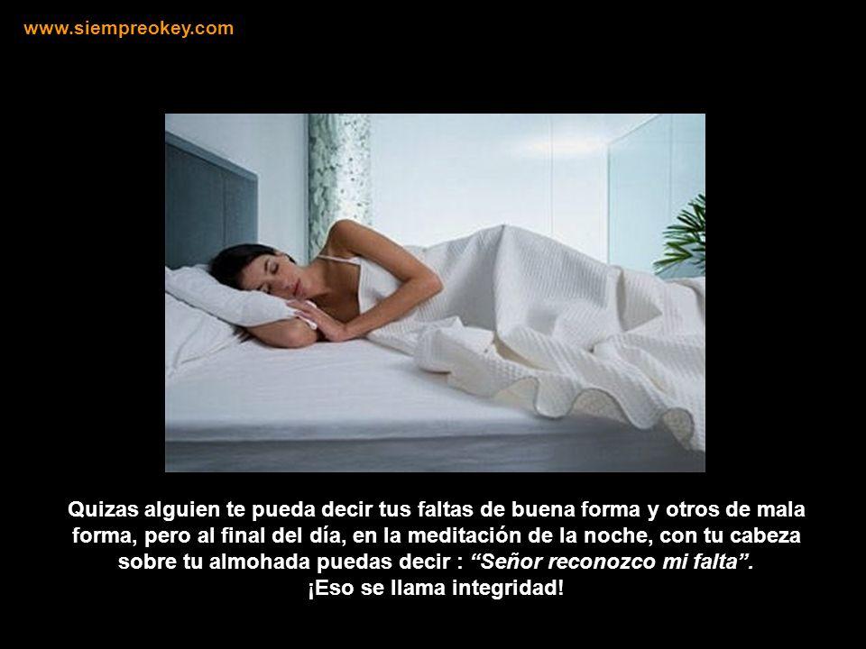 Integridad no es que no cometas faltas, integridad es que aceptes y reconozcas tus faltas. www.siempreokey.com