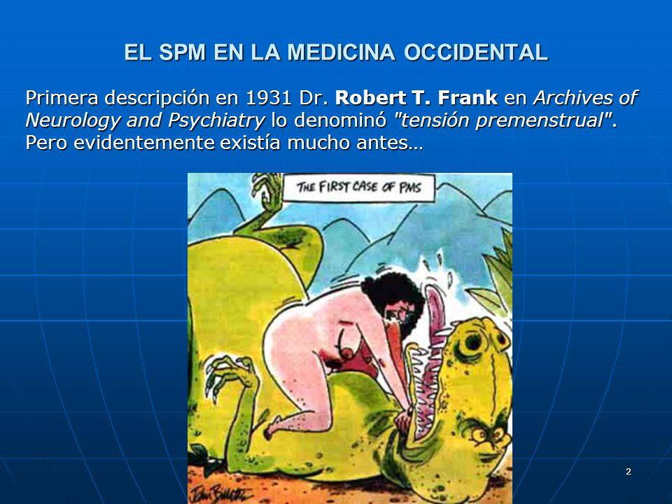 2 EL SPM EN LA MEDICINA OCCIDENTAL Primera descripción en 1931 Dr. Robert T. Frank en Archives of Neurology and Psychiatry lo denominó