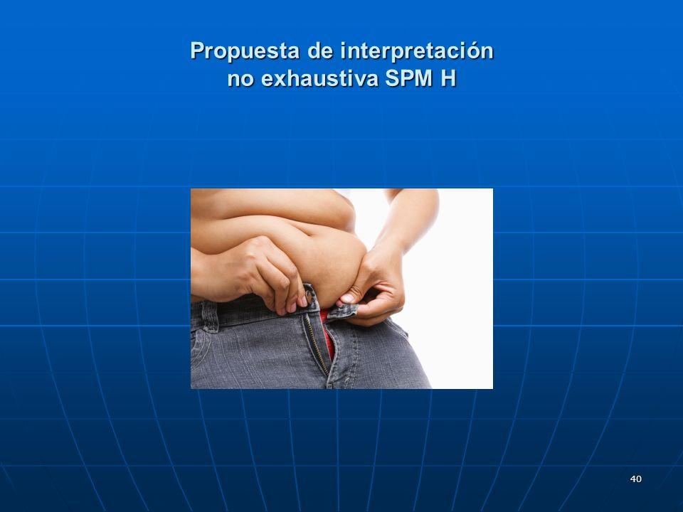40 Propuesta de interpretación no exhaustiva SPM H