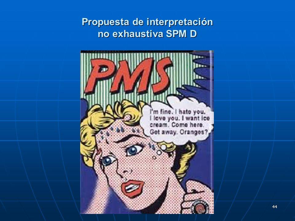 44 Propuesta de interpretación no exhaustiva SPM D