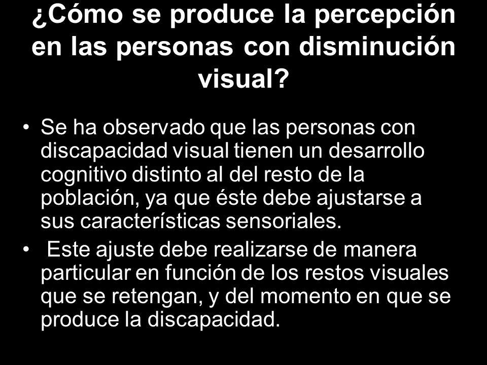 ¿Cómo se produce la percepción en las personas con disminución visual.