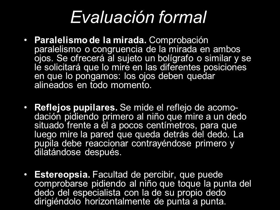 Evaluación formal Paralelismo de la mirada.