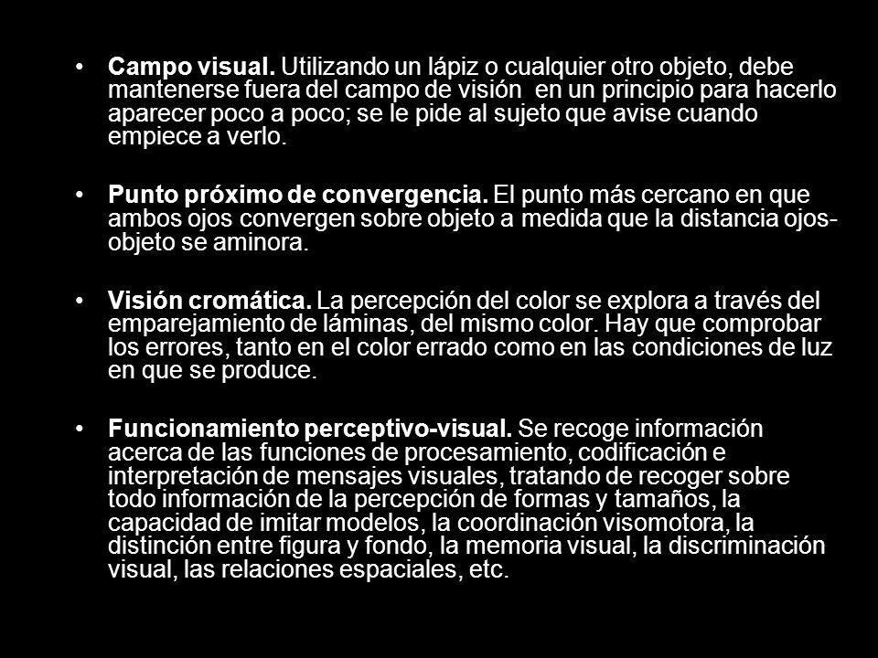 Campo visual.