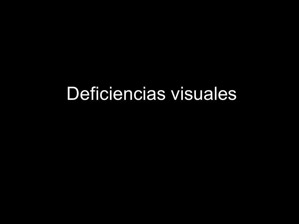 Deficiencias visuales