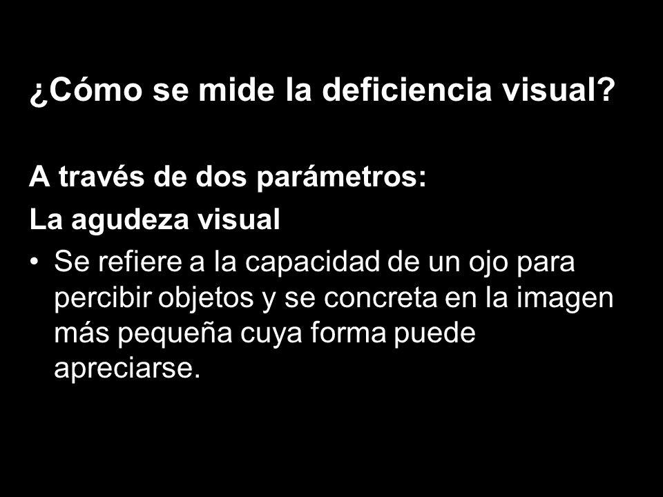 ¿Cómo se mide la deficiencia visual.