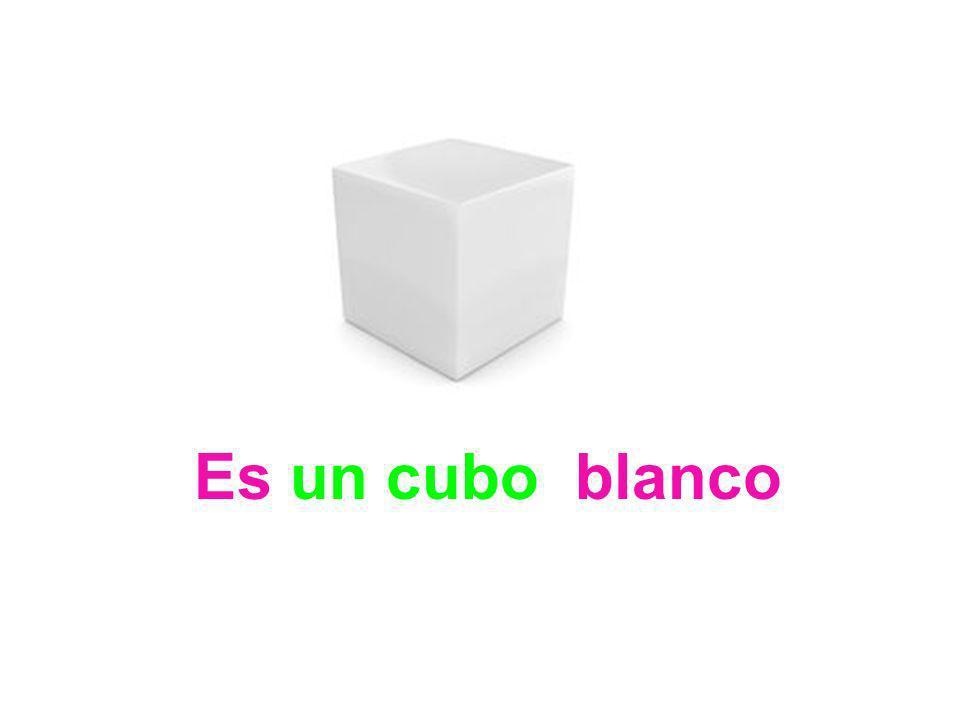 Es ……… blanco una esfera un cuadrado un cubo