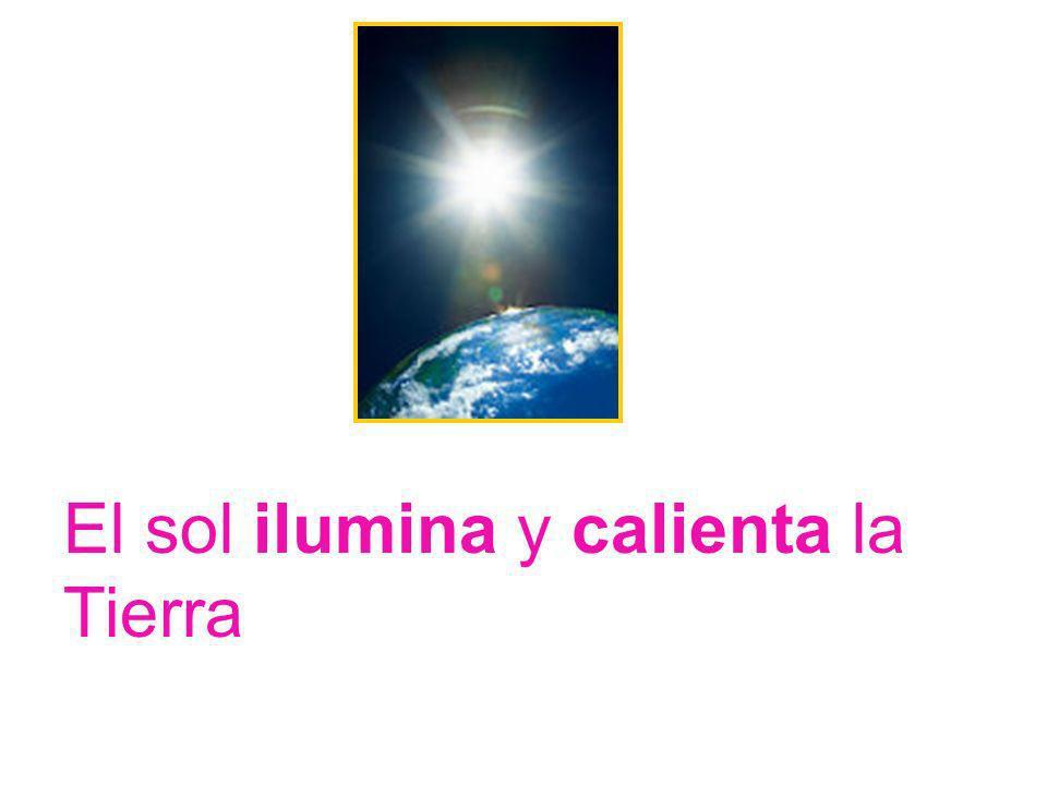 Por la noche podemos ver en el cielo la luna y muchas estrellas