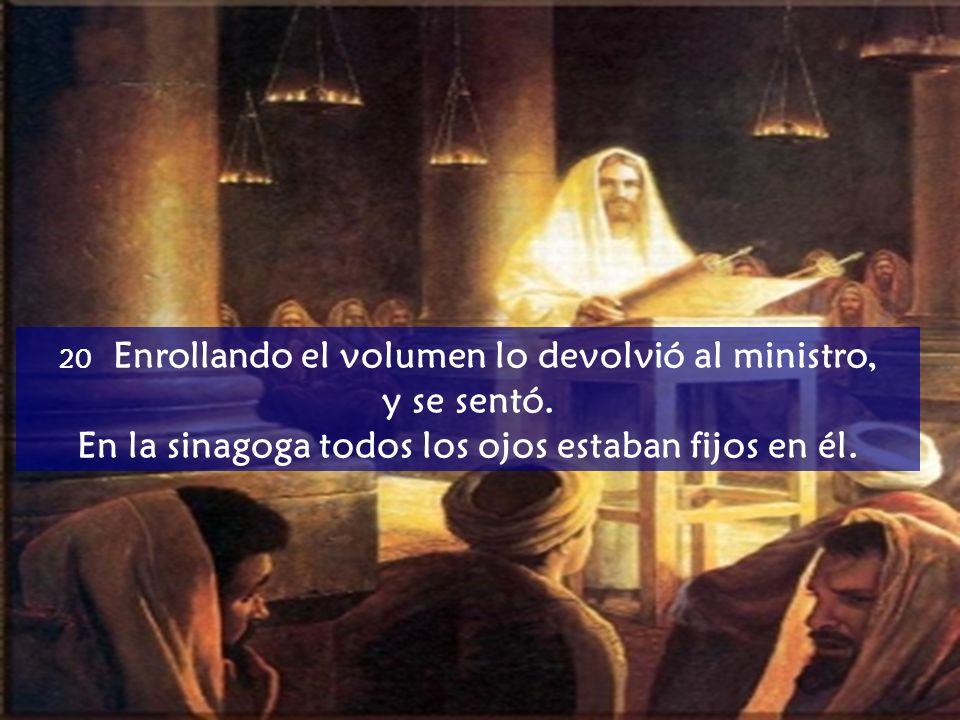 18 El Espíritu del Señor sobre mí, porque me ha ungido para anunciar a los pobres la Buena Nueva, me ha enviado a proclamar la liberación a los cautiv