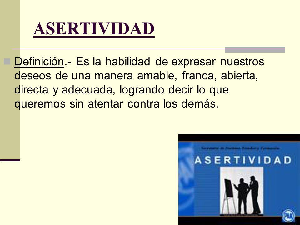 FORMAS DE MANIFESTAR LA ASERTIVIDAD FormasEnsayo 1Ensayo 2E.3E.4E.5E.6E.7E.8E.9 1.