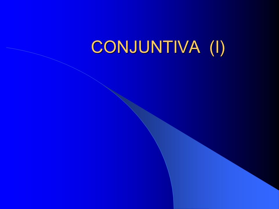 CONJUNTIVA (I)