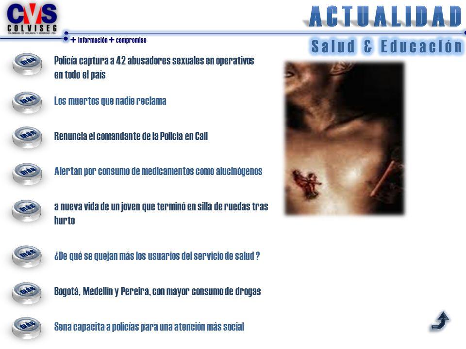 + información + compromiso La política integral de derechos humanos que lidera el Presidente Santos busca superar esa calamidad.