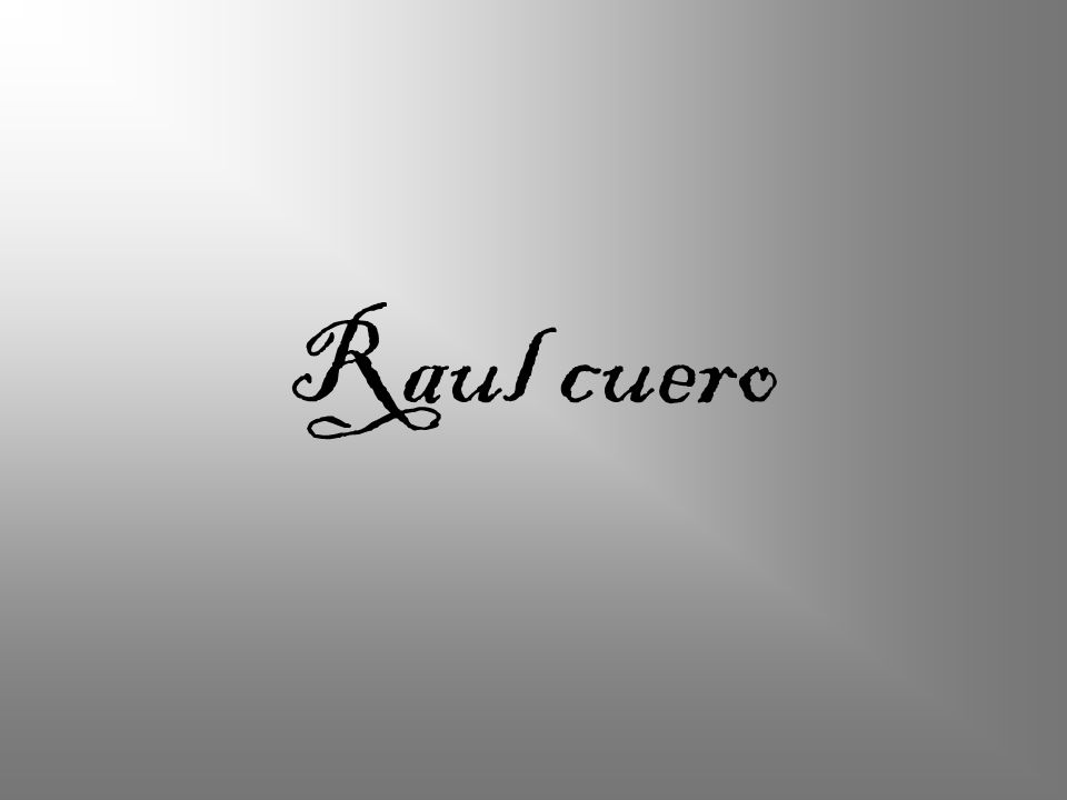 Raul cuero