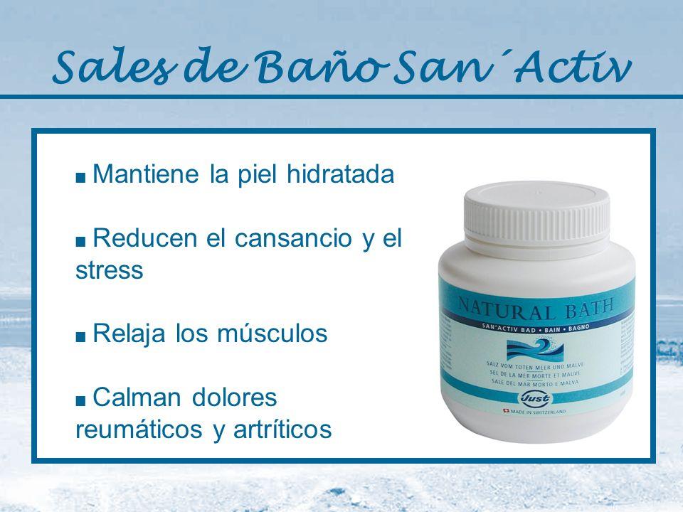 Sales de Baño San´Activ Mantiene la piel hidratada Reducen el cansancio y el stress Relaja los músculos Calman dolores reumáticos y artríticos