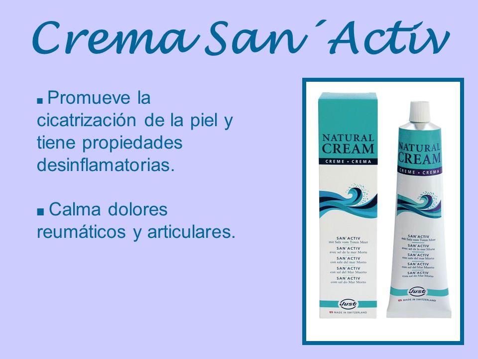 Crema San´Activ Promueve la cicatrización de la piel y tiene propiedades desinflamatorias. Calma dolores reumáticos y articulares.