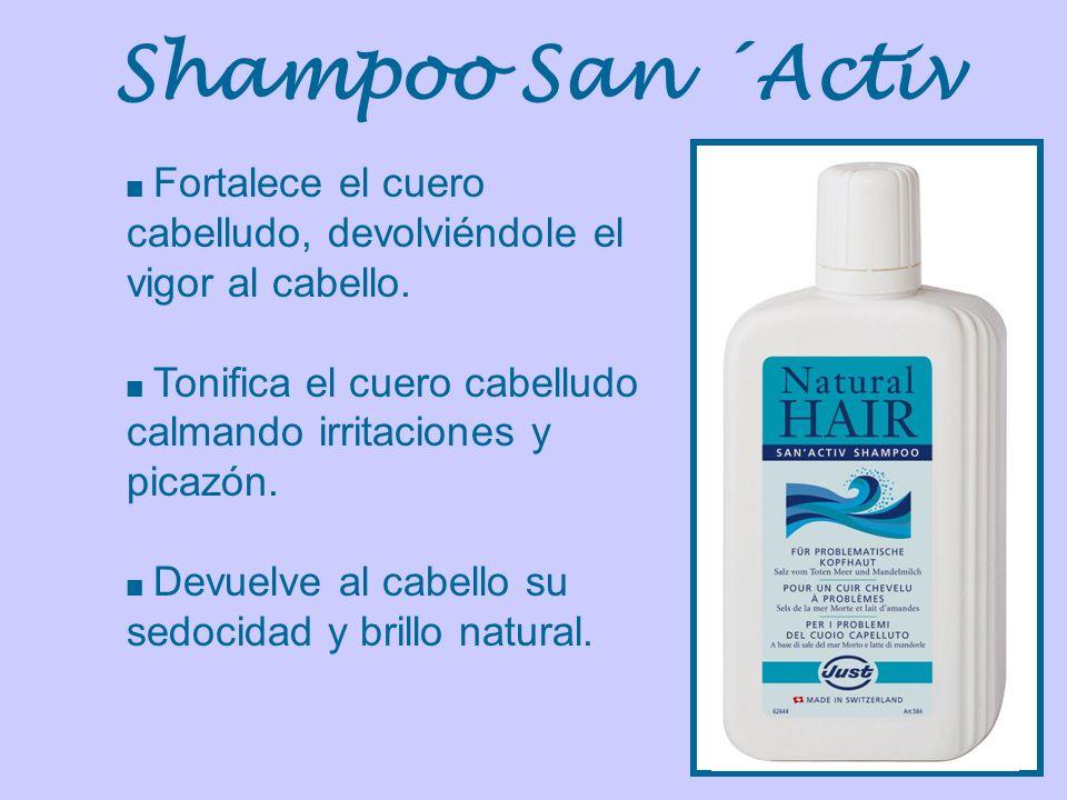 Fortalece el cuero cabelludo, devolviéndole el vigor al cabello. Tonifica el cuero cabelludo calmando irritaciones y picazón. Devuelve al cabello su s