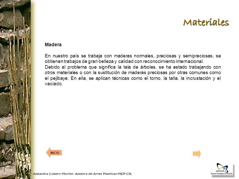 Madera En nuestro país se trabaja con maderas normales, preciosas y semipreciosas, se obtienen trabajos de gran belleza y calidad con reconocimiento i