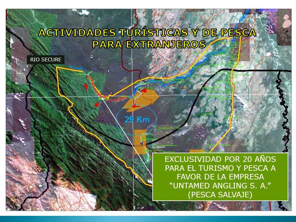 EXCLUSIVIDAD POR 20 AÑOS PARA EL TURISMO Y PESCA A FAVOR DE LA EMPRESA UNTAMED ANGLING S. A. (PESCA SALVAJE)