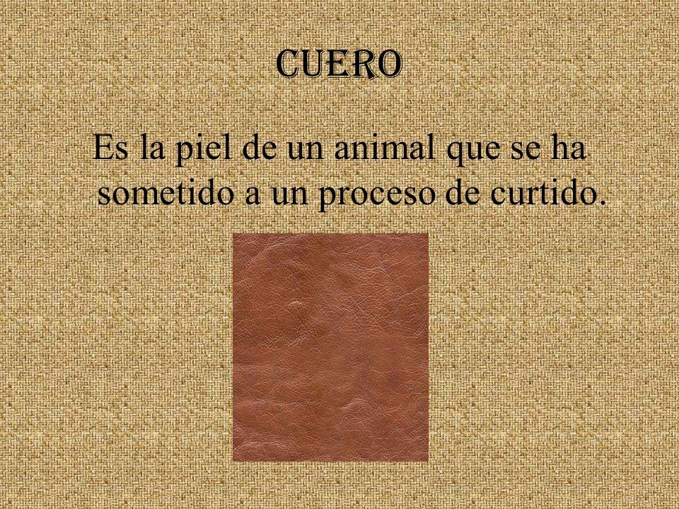 CUERO Es la piel de un animal que se ha sometido a un proceso de curtido.