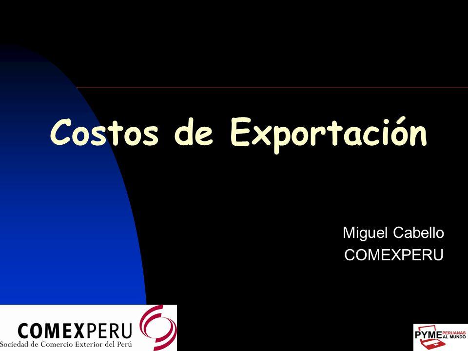 Introducción Mercado exige a exportadores ofertas con agilidad y precisión, al menor costo y tiempos de provisión exactos