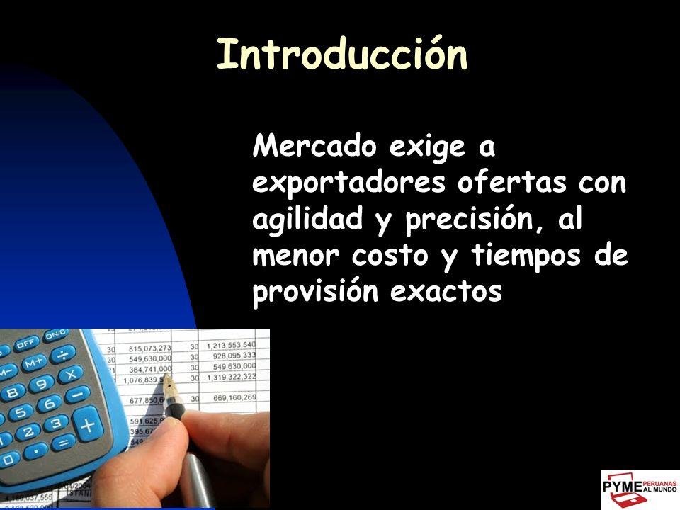 Introducción Cada operación de exportación requiere de: Trámites, contratos, documentos, implican costos