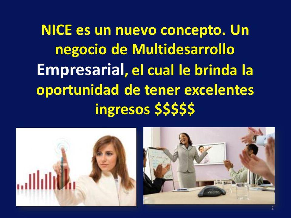 NICE es un nuevo concepto. Un negocio de Multidesarrollo Empresarial, el cual le brinda la oportunidad de tener excelentes ingresos $$$$$ 2