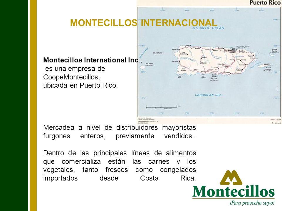 MONTECILLOS INTERNACIONAL Montecillos International Inc., es una empresa de CoopeMontecillos, ubicada en Puerto Rico. Mercadea a nivel de distribuidor