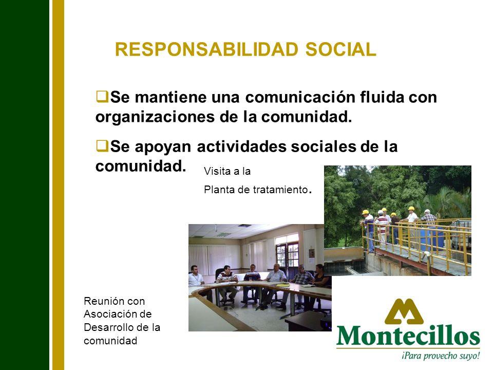 RESPONSABILIDAD SOCIAL Se mantiene una comunicación fluida con organizaciones de la comunidad. Se apoyan actividades sociales de la comunidad. Reunión