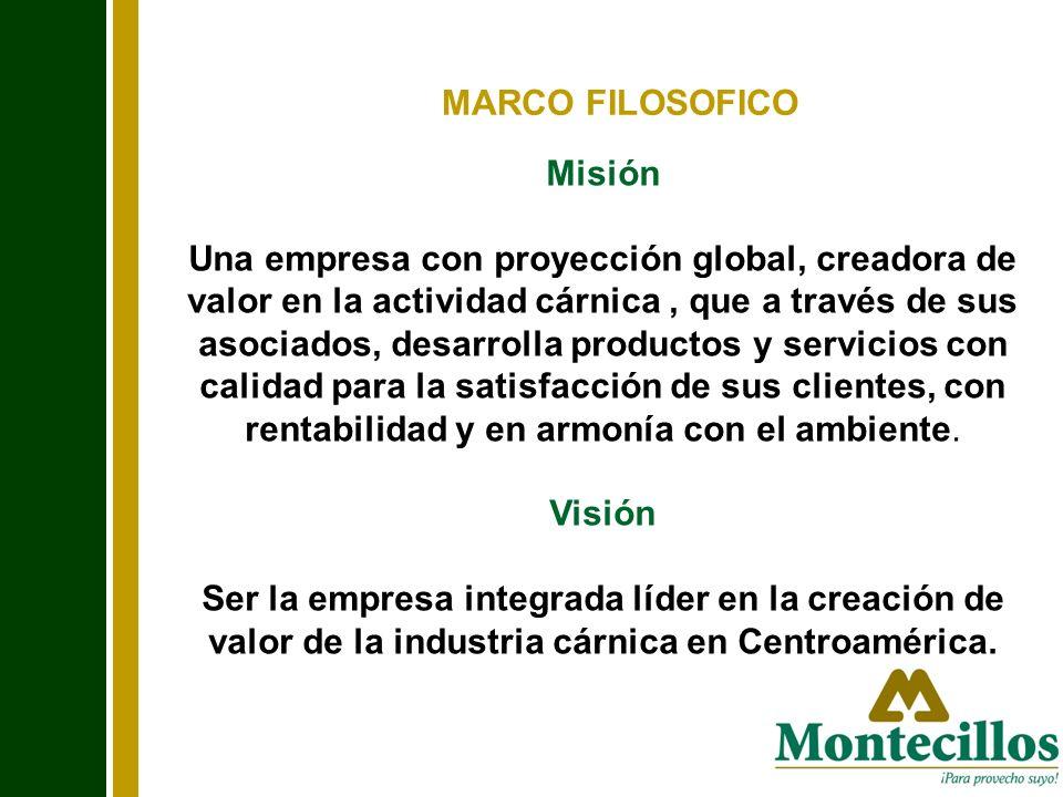 Misión Una empresa con proyección global, creadora de valor en la actividad cárnica, que a través de sus asociados, desarrolla productos y servicios c