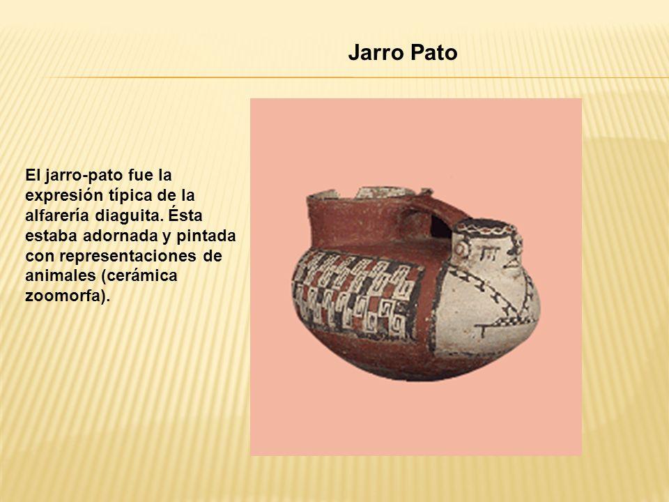 Jarro Pato El jarro-pato fue la expresión típica de la alfarería diaguita.