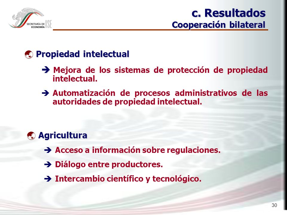 30 Propiedad intelectual Propiedad intelectual Mejora de los sistemas de protección de propiedad intelectual.