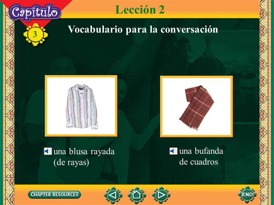 3 la chaqueta, el saco Lección 2 Vocabulario para la conversación el saco cruzado la manga el forro las solapas un botón