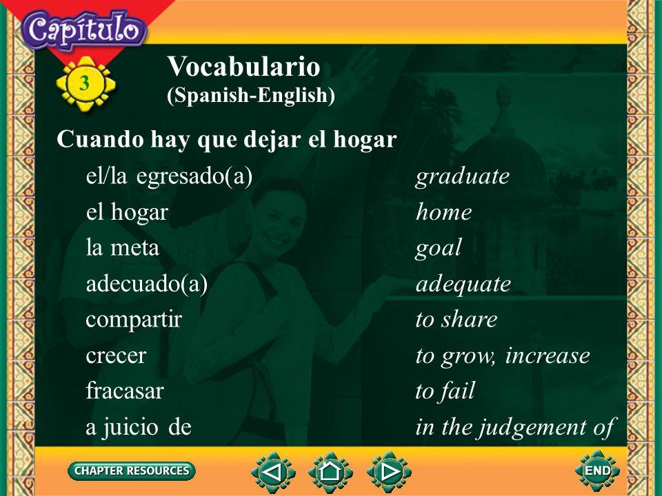 3 Vocabulario cursiflashy (person) (Spanish-English) desabrochado(a)unbuttoned estampado(a)printed llamativo(a)loud, flashy (related to colors) pecart