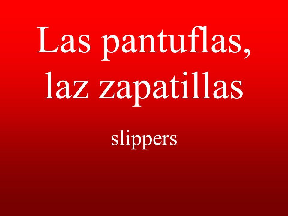 Las pantuflas, laz zapatillas slippers